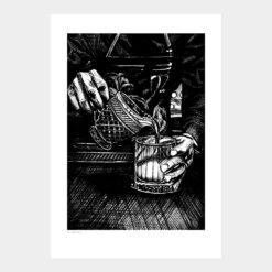 Mr Bartender Print Poster