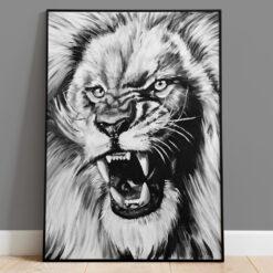 Lejon - Handmålad print