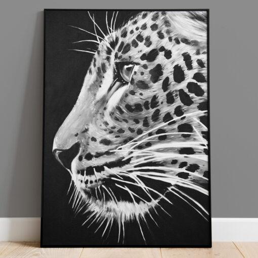 Leopard - Handmålad print