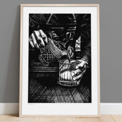 Mr. Bartender - Handmålad print