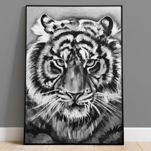 Tiger - Handmålad print